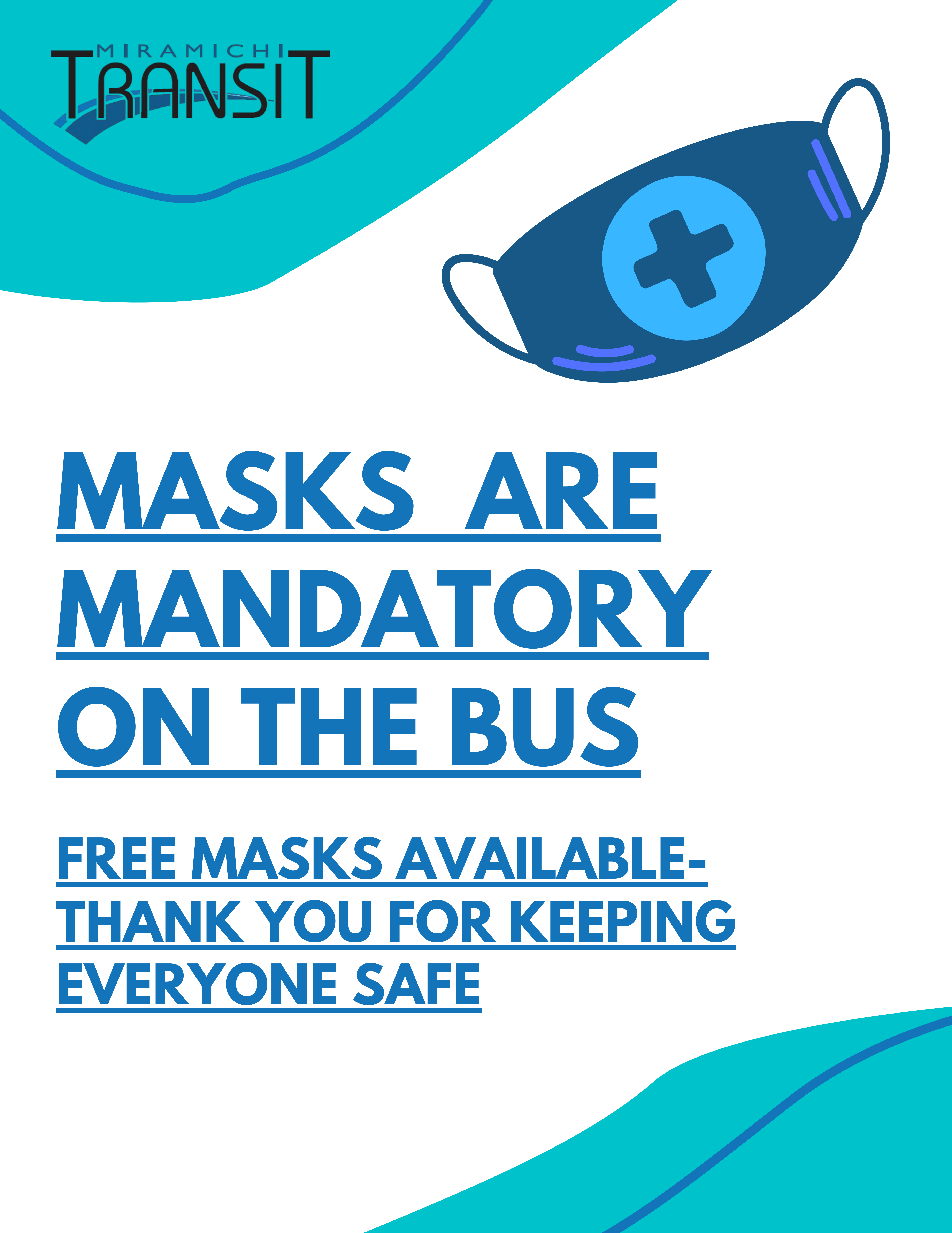 Green and White Proper Mask Use COVID Flyer
